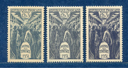 ⭐ France - Variété - YT N° 879 - Couleurs - Pétouilles - Neuf Sans Charnière - 1951 ⭐ - Varieties: 1950-59 Mint/hinged