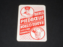 Oude Speelkaart BIERES Brasserie PIEDBOEUF JUPILLE - Autres