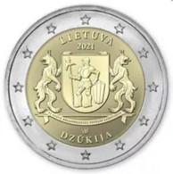 """Litauen  2021  2 Euro  Commemo   """"Dzukija""""    UNC Uit De Rol  UNC Du Rouleaux  !! - Lithuania"""