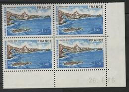 N° 1903 BIARRITZ. Bloc De 4 Avec Coin Daté Du 26/8/76. Neuf ** (MNH). TB - 1970-1979
