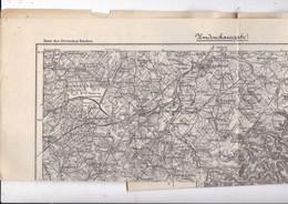 Belle Carte Environs De Saarburg / Sarrebourg, Allemagne, Karte Des Deutschen Reiches, 601, 1887 - Topographical Maps