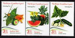 Turkey - 2021 - Vegetables - Cucurbits - Mint Stamp Set - Unused Stamps