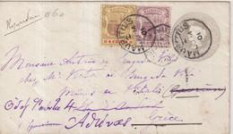 MAURICE   : ENTIER POSTAL .  AVEC COMPlt D'AFFRt .  VIA SUEZ . POUR LA GRECE . 1901 . - Mauritius (...-1967)