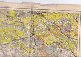Belle Carte 1/200 000 Pays-Bas Région De NImègue Karte Des Deutschen Reiches - Topographical Maps