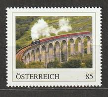 Österreich PM Spektakuläre Bahnstrecken West Highland Line Schottland Glennfinnan Viadukt ** Postfrisch - Private Stamps