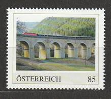 Österreich PM Spektakuläre Bahnstrecken Semmeringsbahn UNESCO Weltkulturerbe ** Postfrisch - Private Stamps