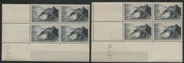 N° 764 POINTE DU RAZ. COTE 14 €. 2 Blocs De 4 Avec Coins Datés Du 23/9/46 Et 15/1/47. Neuf ** (MNH) - 1940-1949