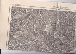 Belle Carte Karte Des Deutschen Reiches 642 Gebweiler Alsace Haut-Rhin 1889 - Topographical Maps