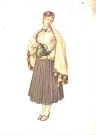 Latvia:Lady Wearing Talsi National Costume, Pre 1940 - Vestuarios