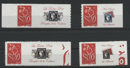 N° 3802A + 3802Aa + 3802Ab + 3802Ac Marianne De Lamouche, Grande Et Petite Vignette. Neufs ** (MNH). COTE 38 €. TB - Personalized Stamps