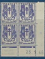 """FR Coins Datés YT 673 """" Chaînes Brisées 50c. """" Neuf** Du 23.146 - 1940-1949"""