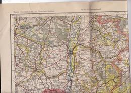 Belle Carte 1/200 000  Karte Des Deutschen Reiches 122 Aachen 1601 Aix-la-Chapelle, Maastricht, Liège… - Topographical Maps