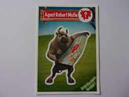Carte Vache Qui Rit Agent Robert Mufle  Autocollant  Cow Kuh Vaca Mucca Koe - Other