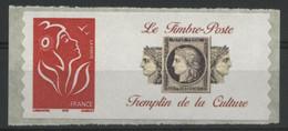 """N° 3802Ae Marianne De Lamouche, Emis En Roulette. Grande Vignette """"Tremplin De La Culture"""" Neuf ** (MNH). COTE 9 €. TB - Personalized Stamps"""