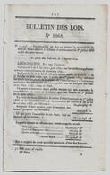 Bulletin Des Lois 1068 1844 Inondations Du Rhône/Route Buzançais/Saint-Andéol/Louvie-Juzon/Digue à Roanne/Le Mans - Décrets & Lois