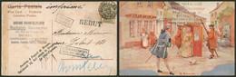 Fine Barbe - N°53 SBD Sur CP PUB (Bruxelles) Expédiée En Imprimé > Bruges / Rebut, Appel Chef Facteur, Inconnu. - 1893-1900 Thin Beard