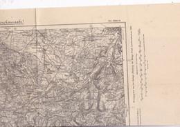 Belle Carte 1/200 000  Karte Des Deutschen Reiches 655 Altkirch 1889 - Topographical Maps