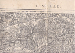 Belle Carte D'état-major Révisée En 1911 Environs De Lunéville, Meurthe-et-Moselle, - Topographical Maps