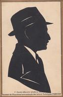 Silhouette Vintage Hand Made Card At Exposition Internationale Des Arts Paris 1937 - Silhouette - Scissor-type