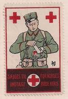 WW1 GERMANY AUSTRIA HUNGARY CINDERELLA VIGNETTE  NORWAY RED CROSS - Vignetten (Erinnophilie)
