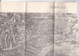 Belle Carte D'état-major Révisée En 1911 1/50 000 Colmar S O Haut-Rhin Alsace - Topographical Maps