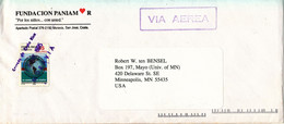 Costa Rica Cover Sent Air Mail To USA 1995 Single Franked - Costa Rica