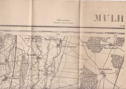 Belle Carte D'état-major édit. Provisoire Mulhouse Alsace - Topographical Maps