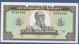 HAITI - P.253 – 1 Gourde1989 UNC Serie B751884 - Haiti