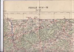 Belle Carte Epinal (Vosges) E Et S Tirage De 1902 Cachet Sec Ministère De L'Intérieur - Topographical Maps