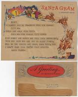 USA 1950s Telegram CoverWestern Union Santagram North Pole To KansasChristmas Sled Santa Claus Reindeer Fauna Animal - Navidad