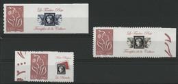 N° 3802B + 3802Ba + 3802Bb Marianne De Lamouche, Grande Et Petite Vignette. Neufs ** (MNH). COTE 45 €. TB - Gepersonaliseerde Postzegels