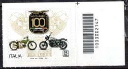 Italia 2021 - Moto Guzzi Codice A Barre MNH ** - Códigos De Barras