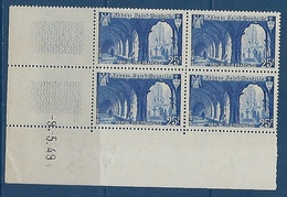 "FR Coins Datés YT 842 "" St-Wandrille "" Neuf** Du 9.5.49 - 1940-1949"