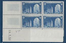 "FR Coins Datés YT 842 "" St-Wandrille "" Neuf** Du 19.7.50 - 1940-1949"