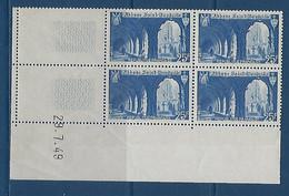 "FR Coins Datés YT 842 "" St-Wandrille "" Neuf** Du 29.7.49 - 1940-1949"