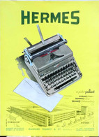 Publicité Papier HERMES TYPEWRITER MACHINE A ECRIRE  Avril 1951 RE P1057190 - Werbung