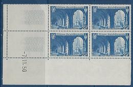 "FR Coins Datés YT 842 "" St-Wandrille "" Neuf** Du 7.11.50 - 1940-1949"