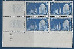 "FR Coins Datés YT 842 "" St-Wandrille "" Neuf** Du 12.11.49 - 1940-1949"