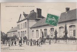 CPA - 23 - BUSSIERE-DUNOISE - La Mairie Et Les Ecoles Voy En 1909 Bel état - Edition  Brunet Fils à Bussière - Andere Gemeenten