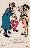 CPA Lithographiée Caricature Satirique Anti Kaïser Guillaume II François Joseph 1er Soldat Italien Illustrateur  2 Scans - Humour