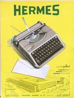 Publicité Papier TYPEWRITER MACHINE A ECRIRE HERMES  Octobre 1951 RE P1057104 - Werbung
