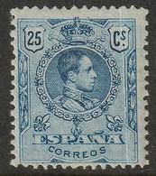 Spain 1909 Sc 302 Ed 274 Yt 248 MH* Crease - Ongebruikt