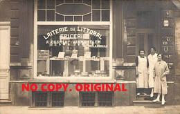 Heyst Heist - Carte Foto Laiterie Du Littoral Epicerie A. Desmedt Vanmiddelem - Heist