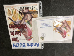 Belgie Andre Buzin Birds 2457 Herdenkingskaart ST GEORGES SUR MEUSE + PRINT HUY 2001 - 1985-.. Birds (Buzin)