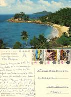 SEYCHELLES CARANA BEACH STAMP 1975 - Seychelles