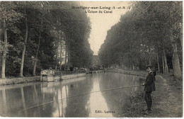 """PENICHE         MONTIGNY/ LOING   L """" ECLUSE DU CANAL - Houseboats"""