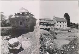 PLEUDANIEL (22) : 2 PHOTOS ORIGINALES DE 1983.12.5X 9 CMS.LE MOULIN A MAREE EN RESTAURATION.TRES RARE. ETAT PARFAIT - Orte