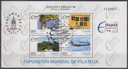 SPANIEN  Block 65, Gestempelt, ESPAMER '96 Und Luft- Und Raumfahrtausstellung '96, Sevilla, 1996 - Blocks & Kleinbögen