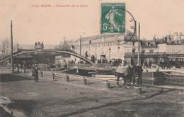 CPA (51) REIMS N° 16 Bis Passerelle Sur Le Canal Auberge Des Trois Poissons    2 Scans - Reims