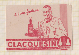 21/408 Buvard  CLAQUESIN APERITIF - Liquor & Beer